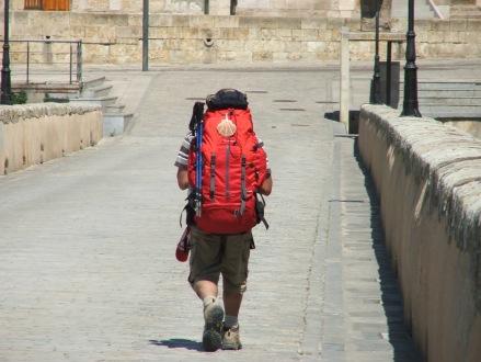 Pilgrim, El Camino de Santiago, Salamanca