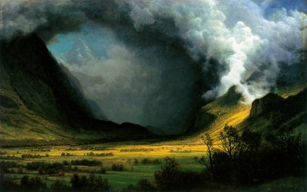 Albert Bierstadt Storm in the Mountains